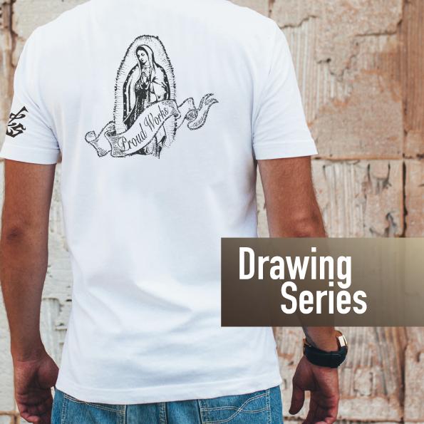 グラフィックTシャツ ドローイングシリーズ